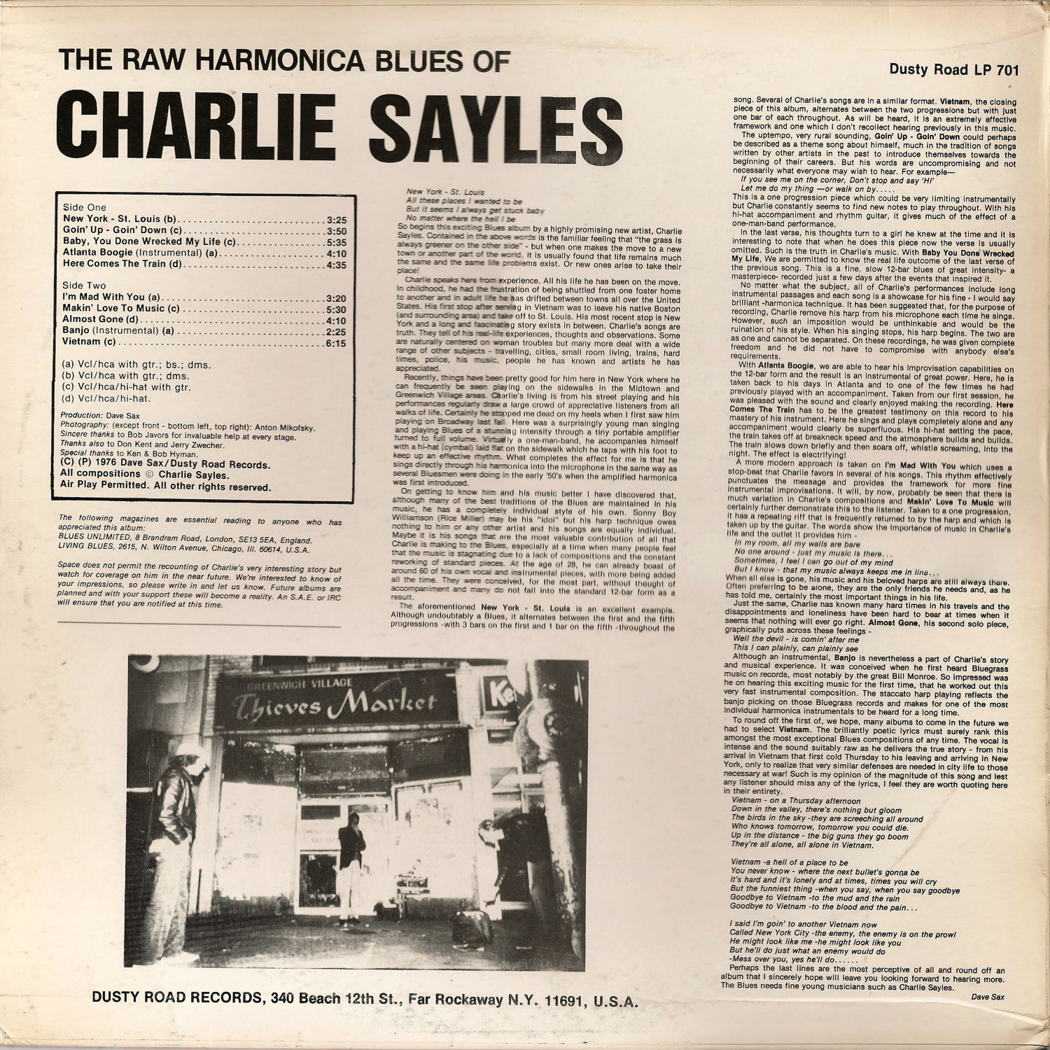 7f1ffd0862f Illustrated Charlie Sayles discography